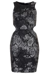 Topshop Snake Cut Out Mini Dress - Lyst
