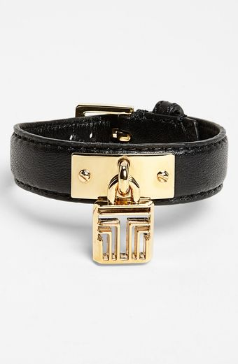 Tory Burch Basics Leather Id Bracelet - Lyst