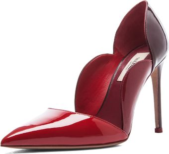 Valentino Tri Color Patent Scalloped Pump - Lyst