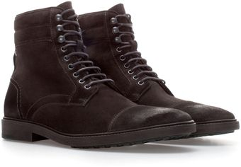Zara Suede Ankle Worker Boot - Lyst