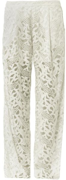 Zimmermann Sundance Wide Leg Trousers - Lyst