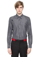 Alexander McQueen Striped Cotton Poplin Harness Shirt - Lyst