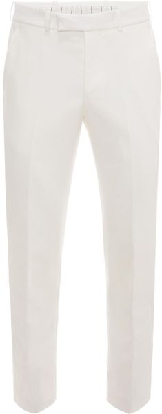 Alexander McQueen Cotton Drill Trousers - Lyst