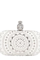 Alexander McQueen Nappa Leather Skull Box Clutch - Lyst