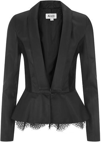 Alice By Temperley Venus Leather Blazer - Lyst