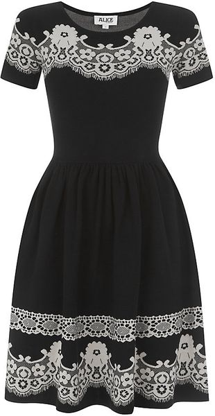 Alice By Temperley Wisp Skater Dress - Lyst