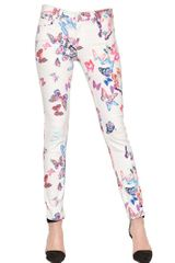 American Retro Stretch Skinny Butterflies Denim Jeans - Lyst