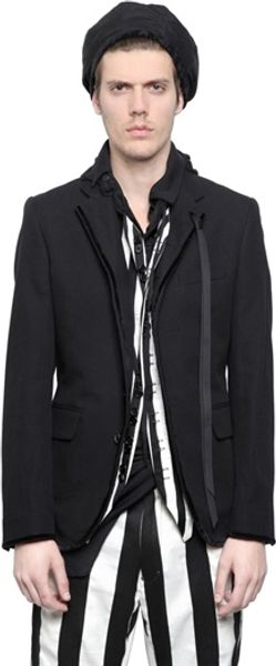 Ann Demeulemeester Cotton Blend Jacket - Lyst