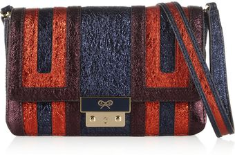 Anya Hindmarch Ebenezer Metallic Texturedleather Shoulder Bag - Lyst