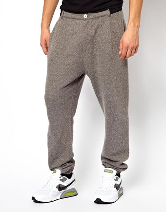 Asos Sweatpant in Neppy Fabric with Contrast Trims By Tim Labenda - Lyst