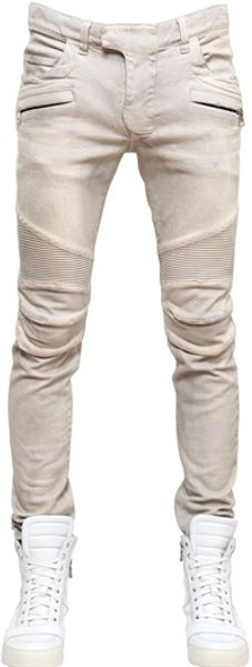Balmain Stretch Skinny Denim Jeans - Lyst