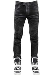Balmain Washed Cotton Denim Jeans - Lyst