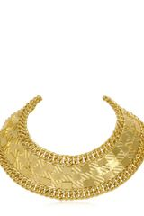 Balmain Gold Plated Collar Necklace - Lyst