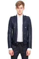 Balmain Spencer Washed Leather Jacket - Lyst