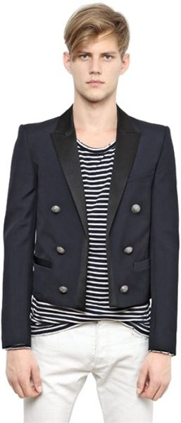 Balmain Spencer Wool Blend Jacket - Lyst