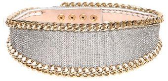 Balmain 110mm Swarovski Embellished Leather Belt - Lyst