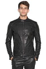 Belstaff Kirkaham Tumbled Leather Moto Jacket
