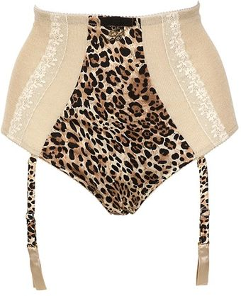 Blumarine Leopard Silk Satin High Waisted Brief - Lyst