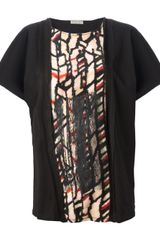 Bottega Veneta Deconstracted Printed Top - Lyst