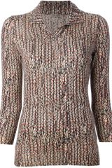 Bottega Veneta Knitted Polo Top - Lyst
