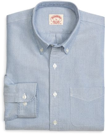 Brooks Brothers White Oxford Sport Shirt - Lyst