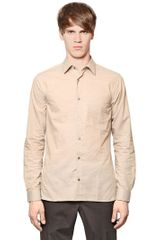 Burberry Combed Cotton Shirt - Lyst