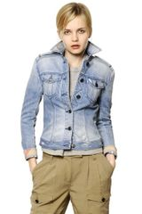 Burberry Brit Stone Washed Stretch Denim Jacket - Lyst