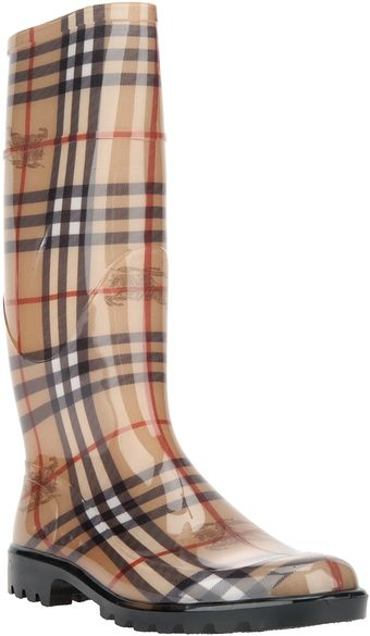 Burberry Haymarket Wellington Boot - Lyst