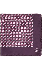 Canali Printed Silk Pocket Square - Lyst