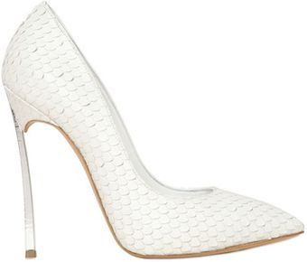 Casadei 120mm Calf Python Effect Blade Pumps - Lyst