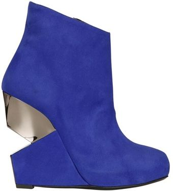 Charline De Luca 120mm Suede Wedged Boots - Lyst