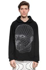 Christopher Kane Hooded Cotton Fleece Sweatshirt - Lyst