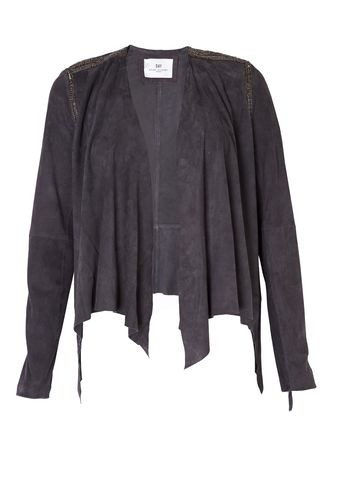 Day Birger Et Mikkelsen Day Leaf Suede and Embellished Jacket - Lyst