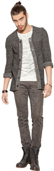 Diesel Black Gold Cotton Knit Cardigan - Lyst