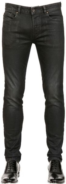 Diesel Black Gold 17cm Superbia Rubber Coated Denim Jeans - Lyst