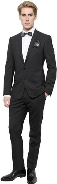 Dolce & Gabbana Stretch Wool Gold Fit Suit - Lyst