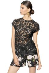 Dolce & Gabbana Cordonetto Viscose Lace Top - Lyst