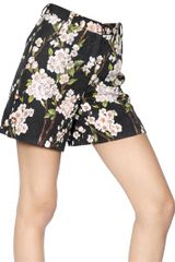 Dolce & Gabbana Cotton and Silk Peach Blossom Shorts - Lyst