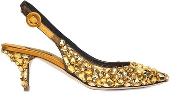 Dolce & Gabbana 60mm Mesh Rhinestones Pointed Pumps - Lyst