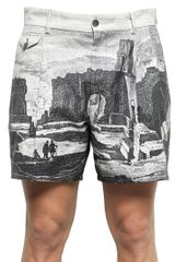 Dolce & Gabbana Printed Cotton Blend Shorts - Lyst