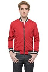 Dolce & Gabbana Light Nylon Bomber Jacket - Lyst