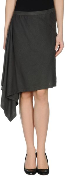 DRKSHDW by Rick Owens Knee Length Skirt - Lyst