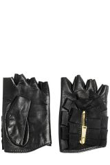 DSquared2 Fingerless Ruffled Nappa Leather Gloves - Lyst