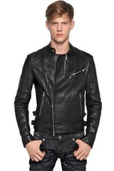 DSquared2 Jungle Tribal Biker Leather Jacket - Lyst