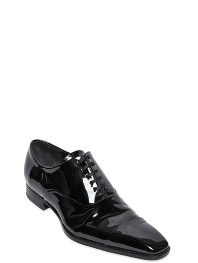 Lyst Dsquared 178 Patent Leather Oxford Shoes In Black For Men