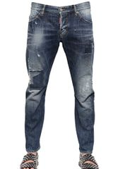 DSquared2 165cm Patch Wash Denim Jeans - Lyst