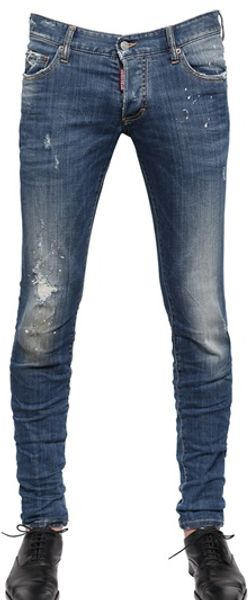 DSquared2 Patch Sand Wash Denim Jeans - Lyst