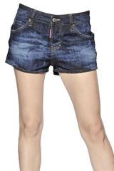 DSquared2 Camouflage Cotton Denim Shorts - Lyst
