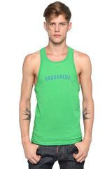 DSquared2 Cotton Jersey Racerback Tank Top - Lyst