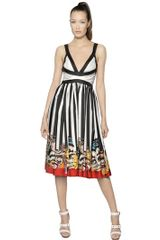 DSquared2 Printed Silk Twill Dress - Lyst